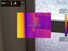 Wärmebildkamera - Kältebrücke Aluminiumtür 70er Jahre (Einkammerprofiltür)