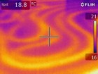 Wärmebildkamera -  Schleifen der Fußbodenheizung unsachgemäß verlegt